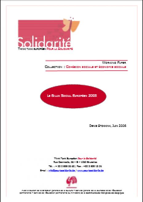image couverture le bilan social européen 2005