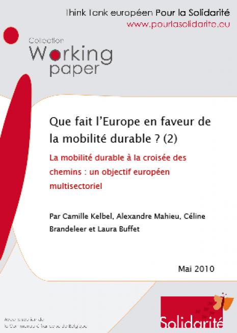 image couvrerture Que fait l'Europe en faveur de la mobilité durable ? 2