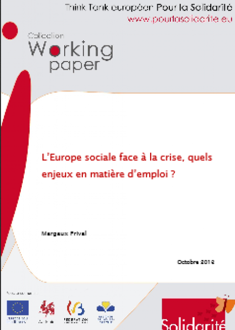 image couverture europe sociale face à la crise quels enjeux en matière d'emploi