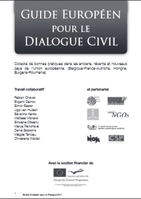 image couverture guide européen dialogue civil