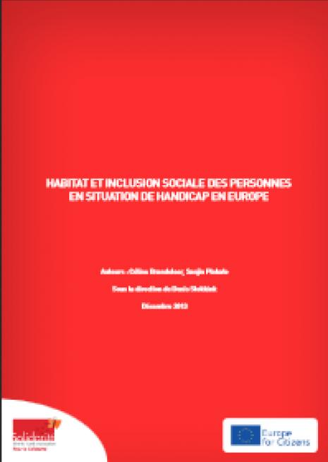 image couverture habitat et inclusion sociale des personnes en situation d'handicap en Europe