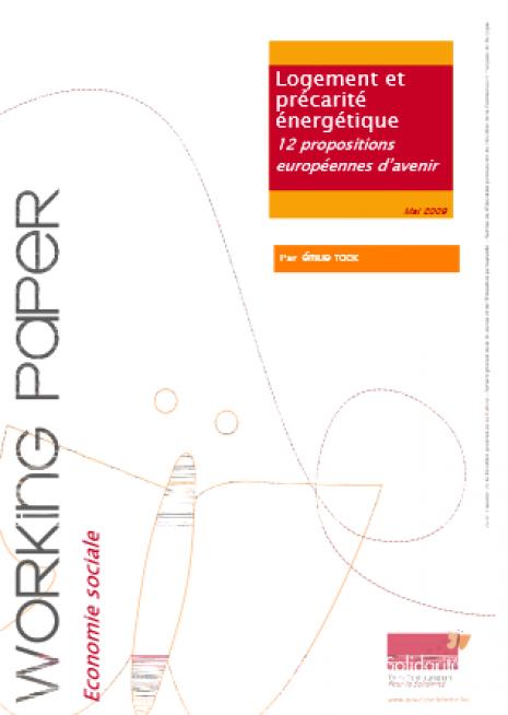 image couverture Log ement et précarité énergétique 12 propositions européennes d'avenir