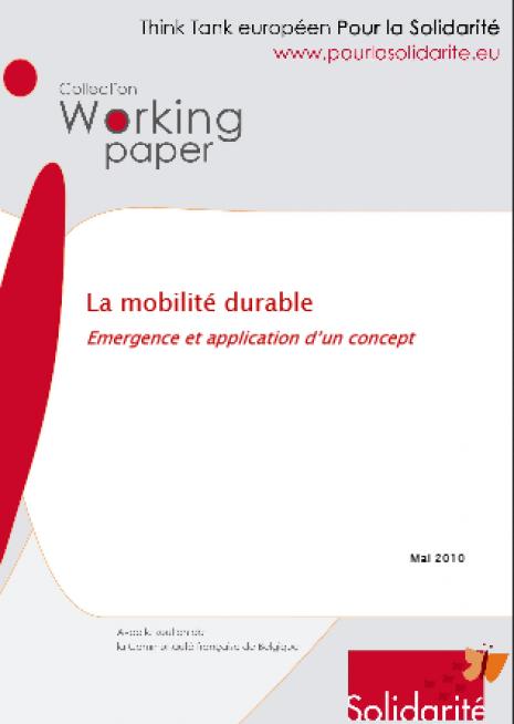 image couverture La mobilité durable Emergence et application d'un concept