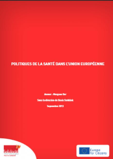 image couverture La politique de la santé dans l UE