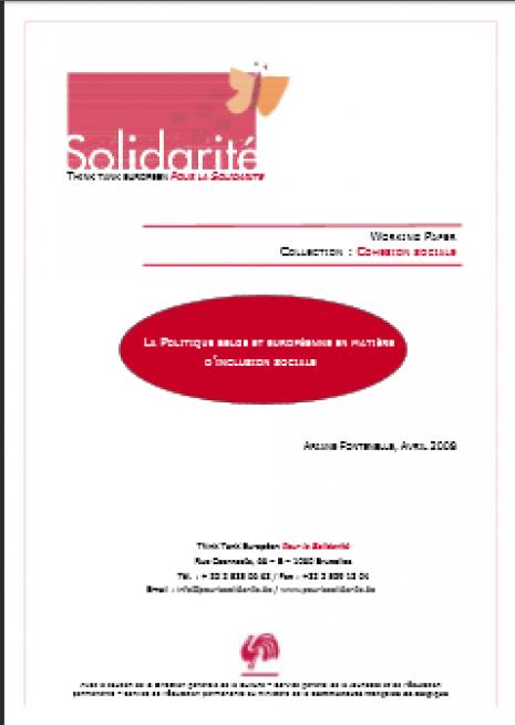 image couverture politique belge et européenne d'inclusion sociale