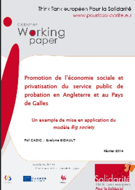 image couverture Promotion de l'économie sociale et privatisation du service public de probation en Angleterre et au Pays de Galles
