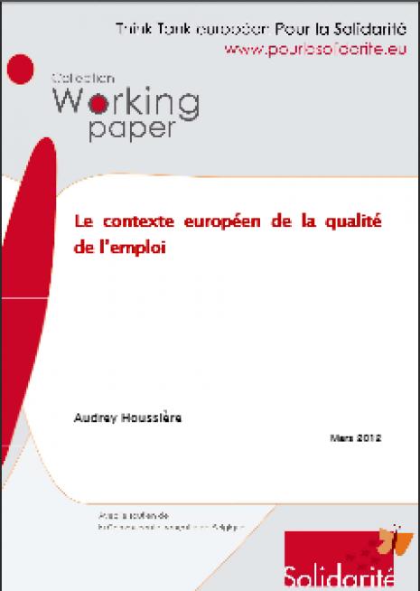 image couverture contexte européen de la qualité de l'emploi