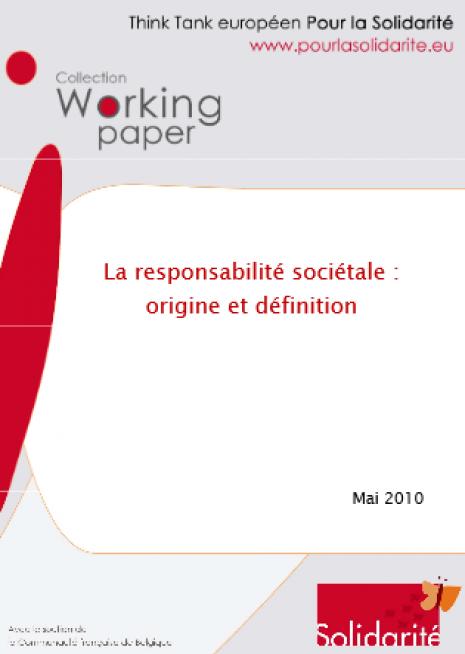 image couverture La responsabilité sociétale : origine et définition