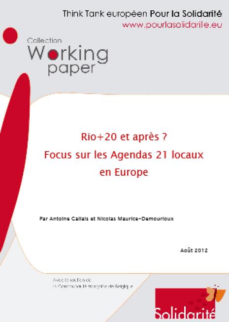 image couverture 1 Rio+20 et après ? Focus sur les Agendas 21 locaux en Europe