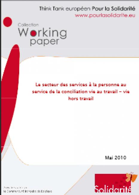 image couverture Le secteur des services à la personne au service de la conciliation vie au travail - vie hors travail
