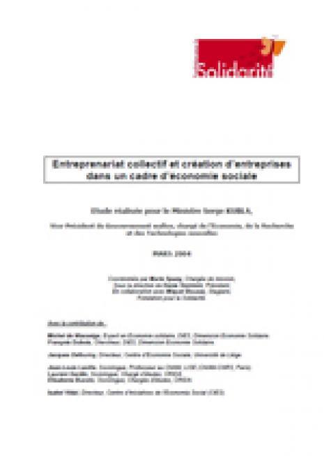 Entrepreunariat collectif et création d'entreprises dans un cadre d'économie sociale - cover